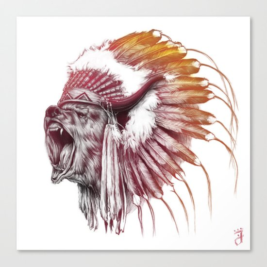 Chief Bear Canvas Print