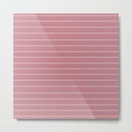 Blush Pink Minimalist Stripes Metal Print