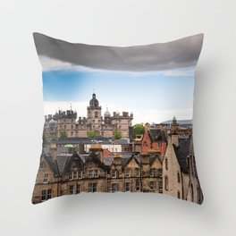 View of Edinburgh architecture from Victoria Street Throw Pillow
