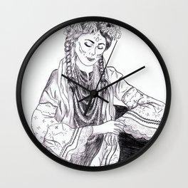 Ethnic Girl Wall Clock