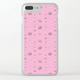 I love doughnuts! Clear iPhone Case