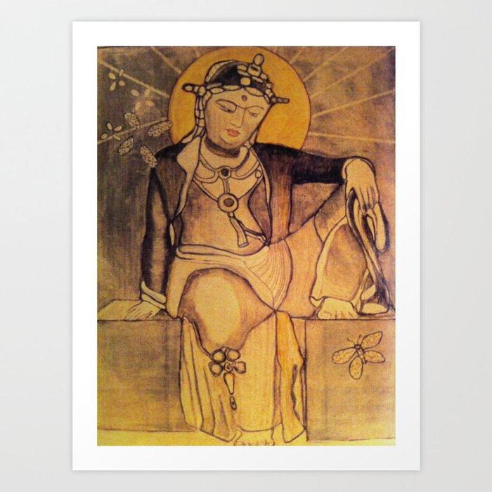 Budha Women Art Print