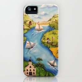 Hudson Vally Regatta iPhone Case