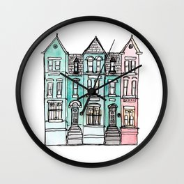 DC Row House No. 2 II U Street Wall Clock
