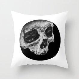 Skull Profile Painting Throw Pillow
