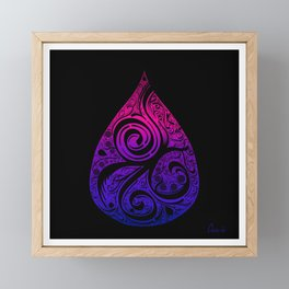 Bisexual Pride Drop Framed Mini Art Print
