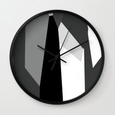 Black White and Gray Abstract Wall Clock