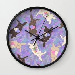 Chocolate Bunnies Wall Clock