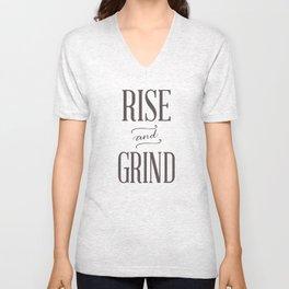 Rise and Grind Unisex V-Neck
