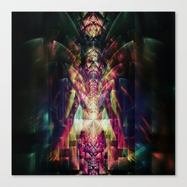 Fractured Girl Canvas Print