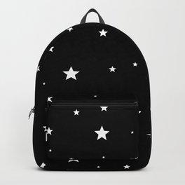 Scattered Stars - white on black Backpack