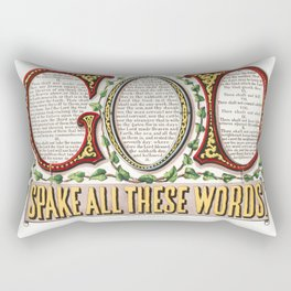 The Ten Commandments - God Spake All These Words - Currier And Ives 1876 Rectangular Pillow