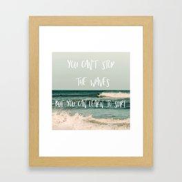 Learn To Surf Framed Art Print