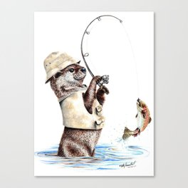 Natures Fisherman Canvas Print