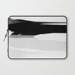 Soft Determination Black & White Laptop Sleeve