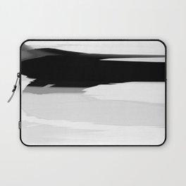 Soft Determination Black & White Laptop Sleeve