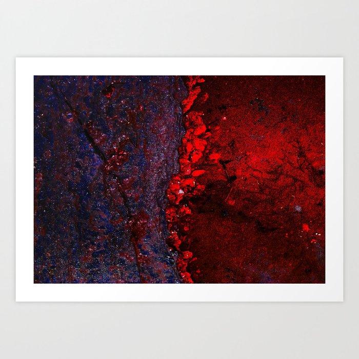 """""""Universal Bleeds"""" Art Print"""