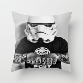 Knuckle Up Throw Pillow