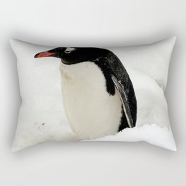 Gentoo Penguin in the Snow Rectangular Pillow