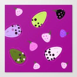 Wid figs purple Summer Art Canvas Print