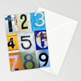 1,2,3,4,5,6,7,8,9 All The Numbers! In A Row! Stationery Cards