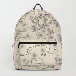 Vintage Map of The White Mountains (1872) Backpack
