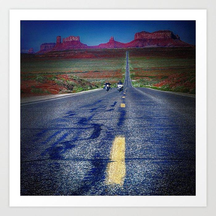 Monument Valley Twilight Art Print