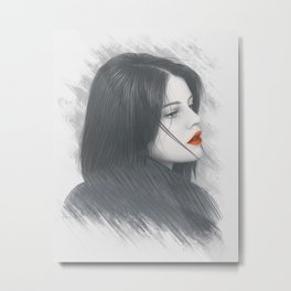 Passion Woman Portrait Metal Print