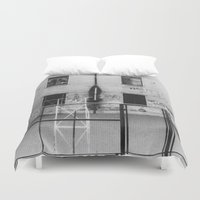 school Duvet Covers featuring School by Ibbanez