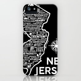New Jersey Map  iPhone Case