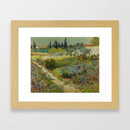 Vincent van Gogh - Garden at Arles Framed Art Print