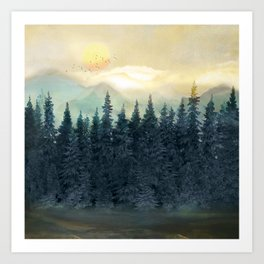 Forest Under the Sunset II Art Print