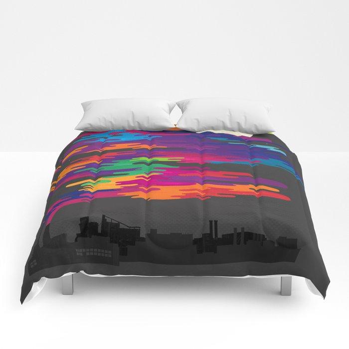 Hidden in the Smog (Night) Comforters