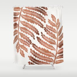 Fern Leaf – Rose Gold Palette Shower Curtain
