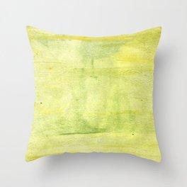 Yellow green watercolor Throw Pillow