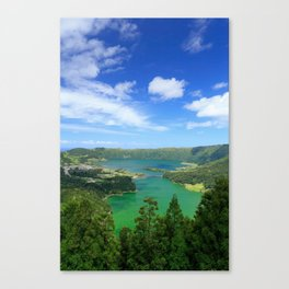 Lakes in Azores Canvas Print