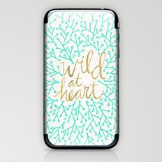 Wild at Heart – Turquoise & Gold iPhone & iPod Skin