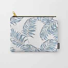 Blue Leaves Carry-All Pouch