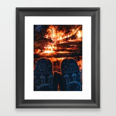 stay warm this winter Framed Art Print