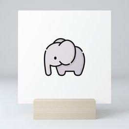 Just a Cute Elephant Mini Art Print