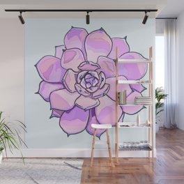 Purple Succulent Wall Mural