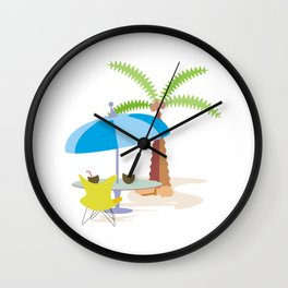 Hurray, vacation! Wall Clock