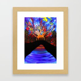 On my way to wonderland Framed Art Print