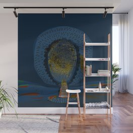 Tree Cactus in a Blue Desert Wall Mural