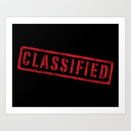 Classified Art Print