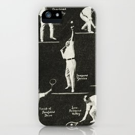 gentlemen prefer tennis iPhone Case