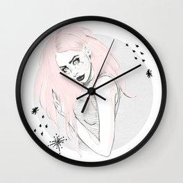 Celestial Woman - Fashion Illustration Wall Clock