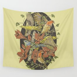 Robins and Warblers Wall Tapestry