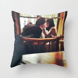 Love In A Paris Cafe. Throw Pillow