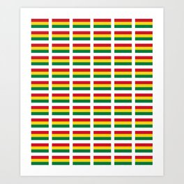 flag of bolivia 2 -bolivian,boliviano,bolivian,Sucre, La Paz. Art Print